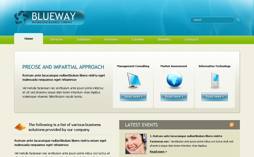 Szablon PSD #23304 na temat: biznes i usługi New Screenshots BIG