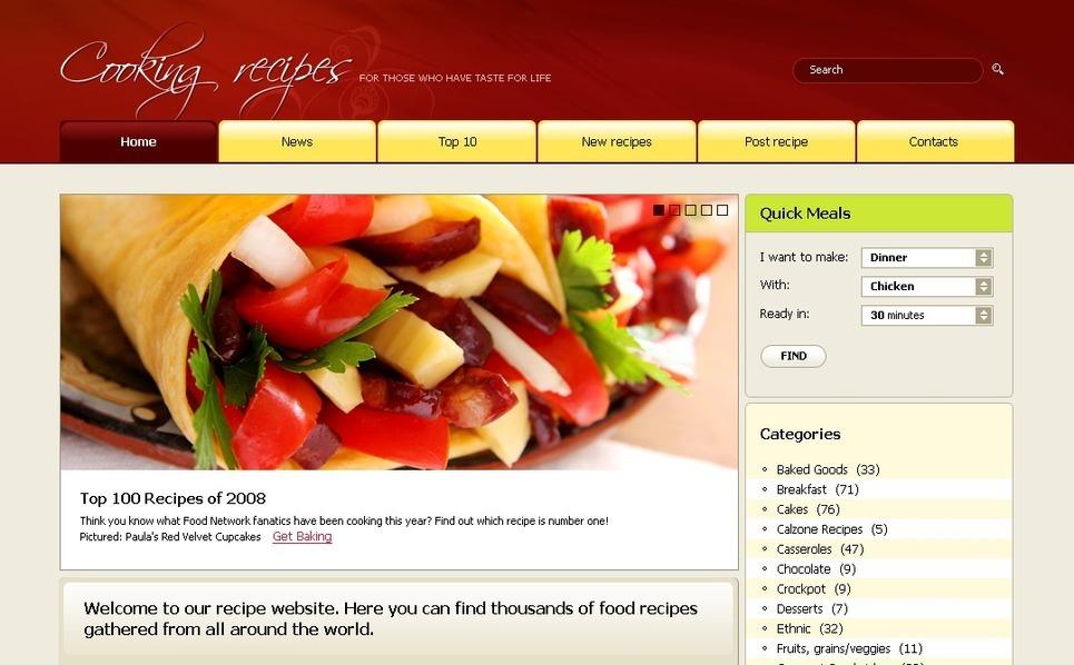 PSD Vorlage für Kochen  New Screenshots BIG