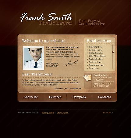 Шаблон сайта на Flash (23321)
