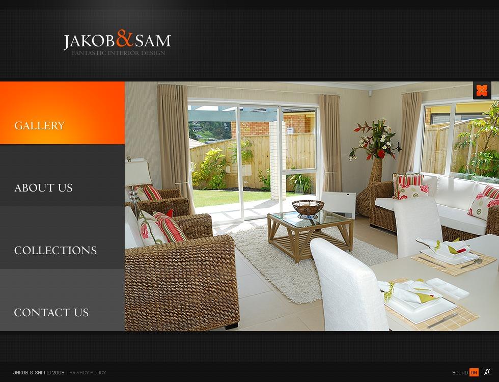Template flash per un sito di design di interni for Siti design interni