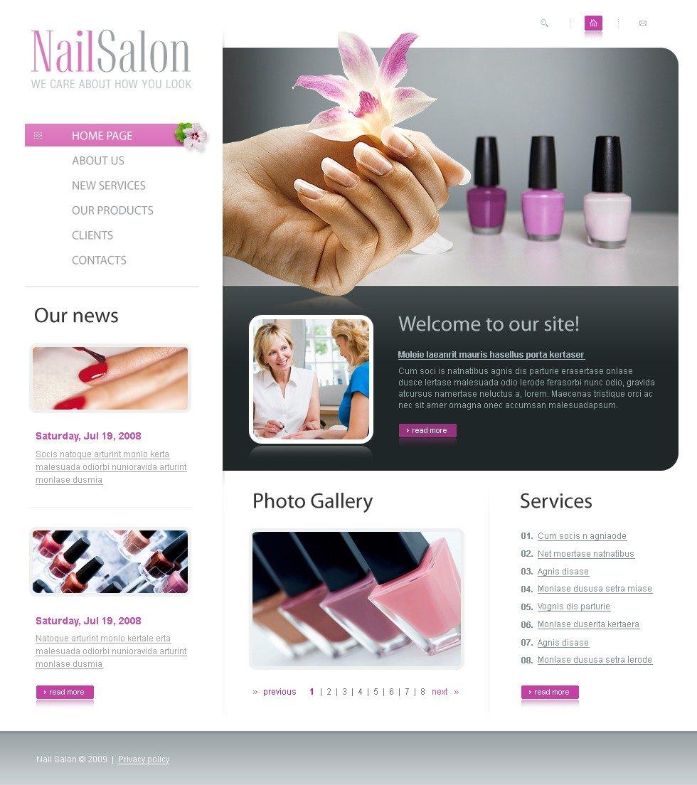 Nail Salon Website Template #23324