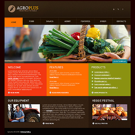 Realizare site online agricultura