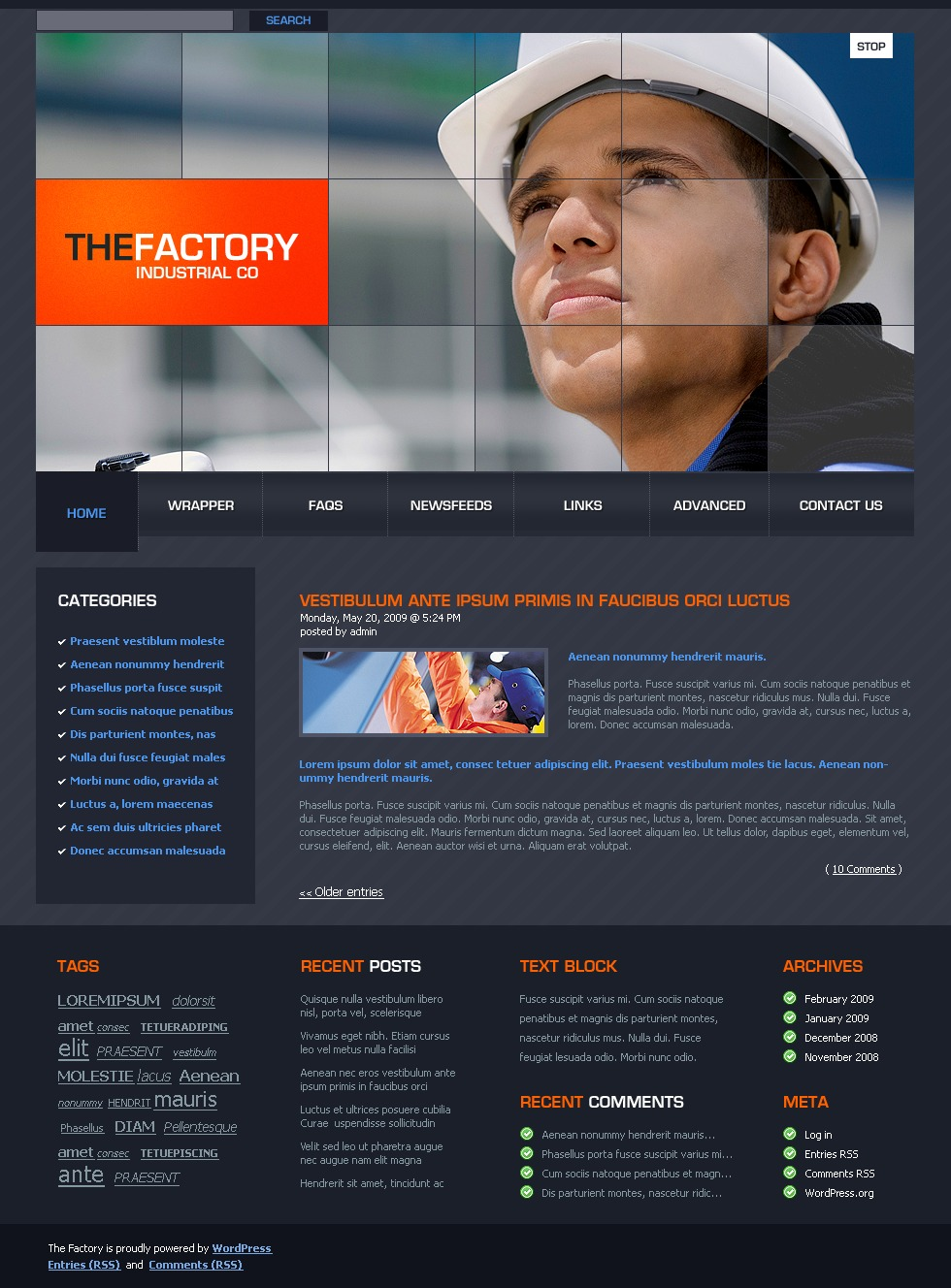 Industrial WordPress Theme - screenshot