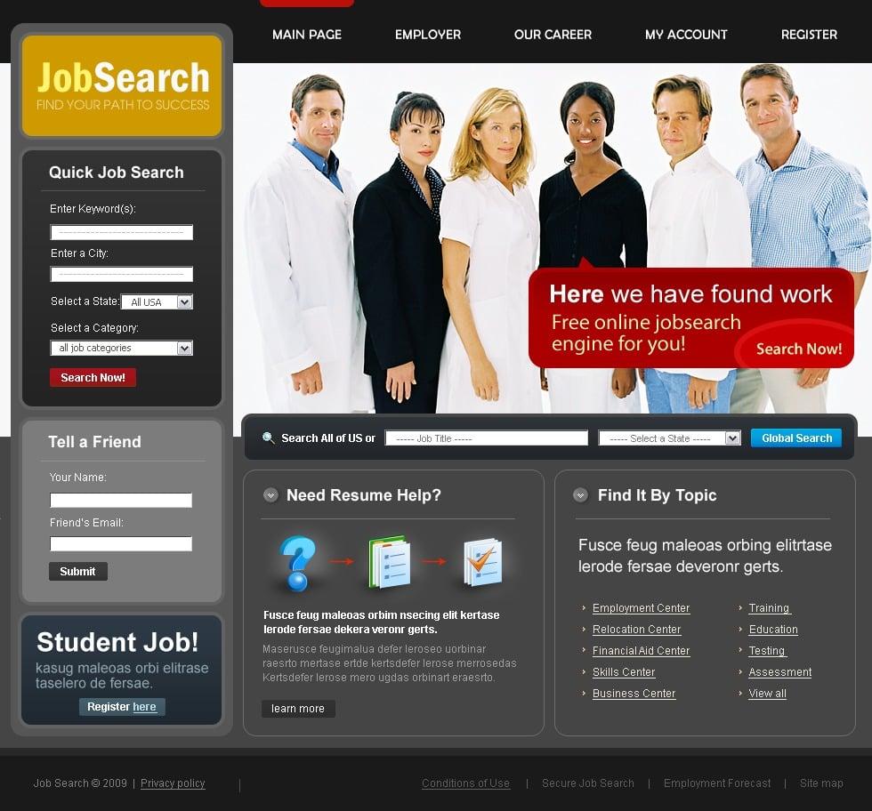 Job Portal Website Template #23435