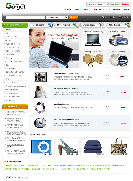 ADOBE Photoshop Template 23586 Home Page Screenshot