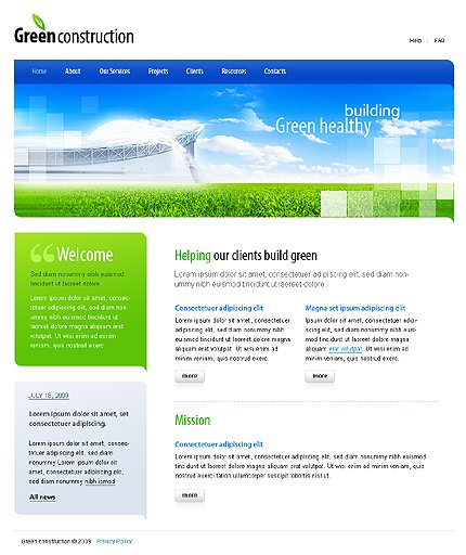 ADOBE Photoshop Template 23590 Home Page Screenshot