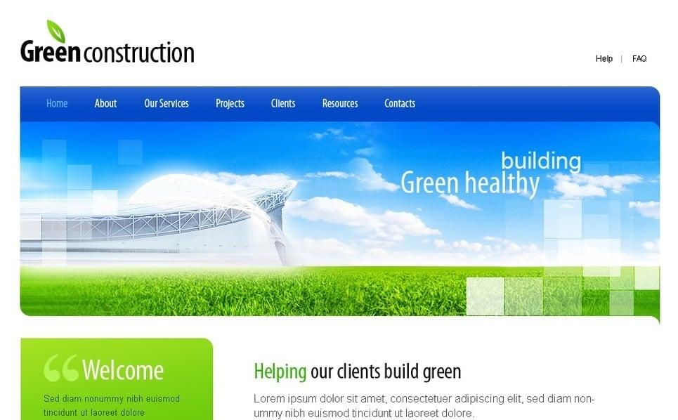 Plantilla PSD #23590 para Sitio de Empresa de construcción New Screenshots BIG