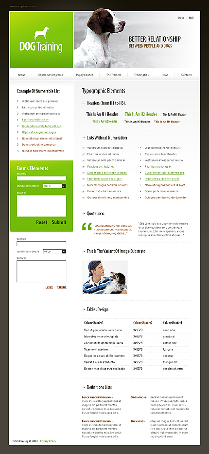 ADOBE Photoshop Template 23591 Home Page Screenshot