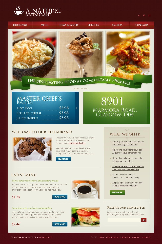 餐厅PSD模板 #23587