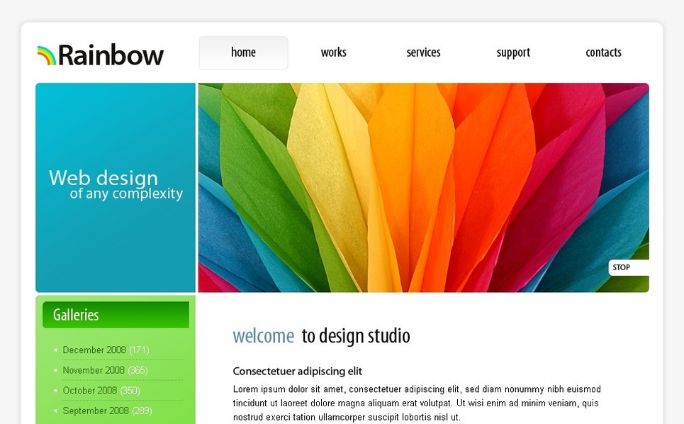 Template siti web per un sito di web design for Siti di design