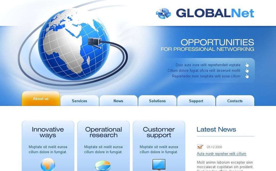 Modello siti web per un sito di comunicazioni for Siti web di home plan