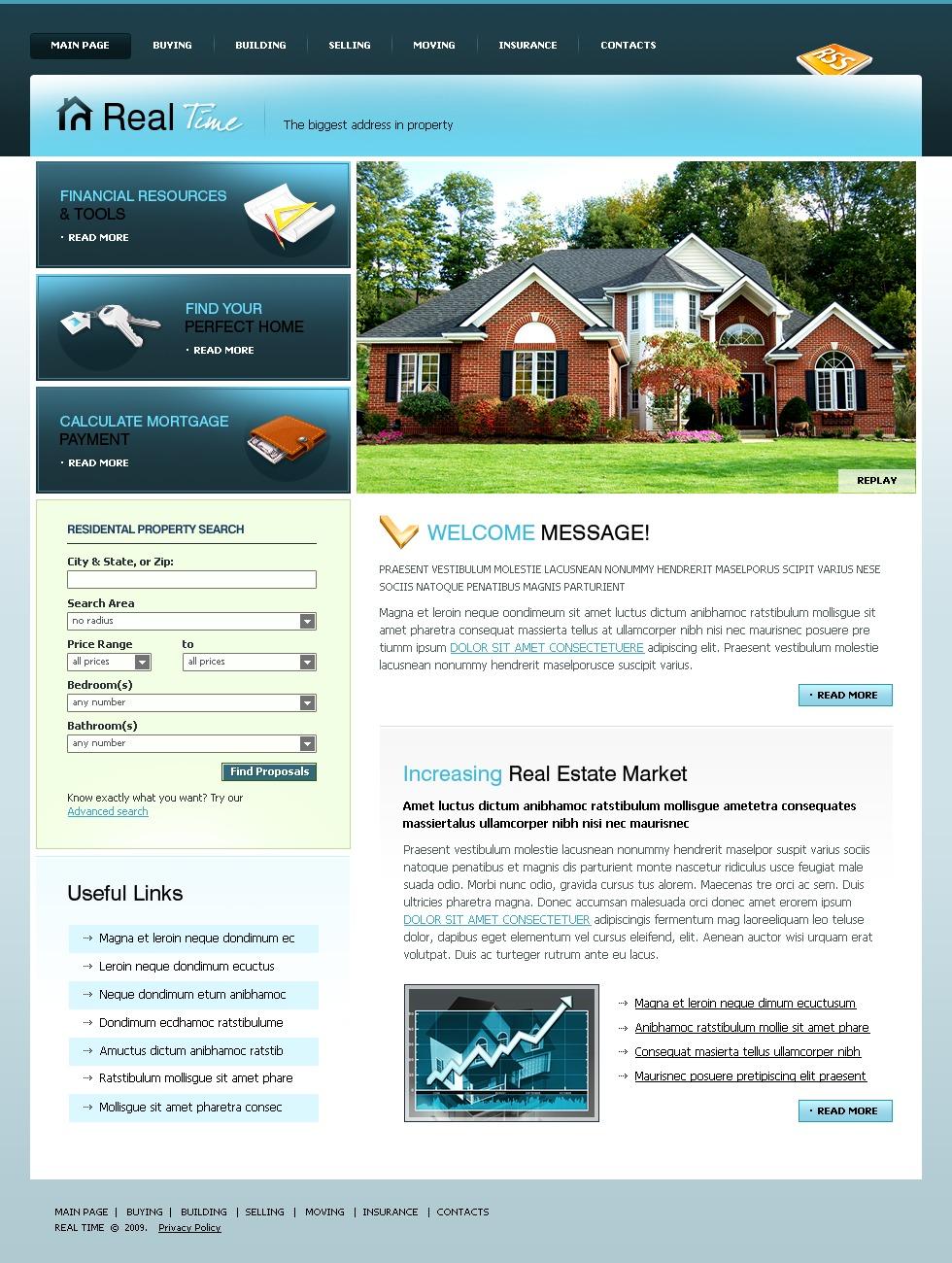 Plantilla web 23612 para sitio de agencia inmobiliaria for Agencia inmobiliaria