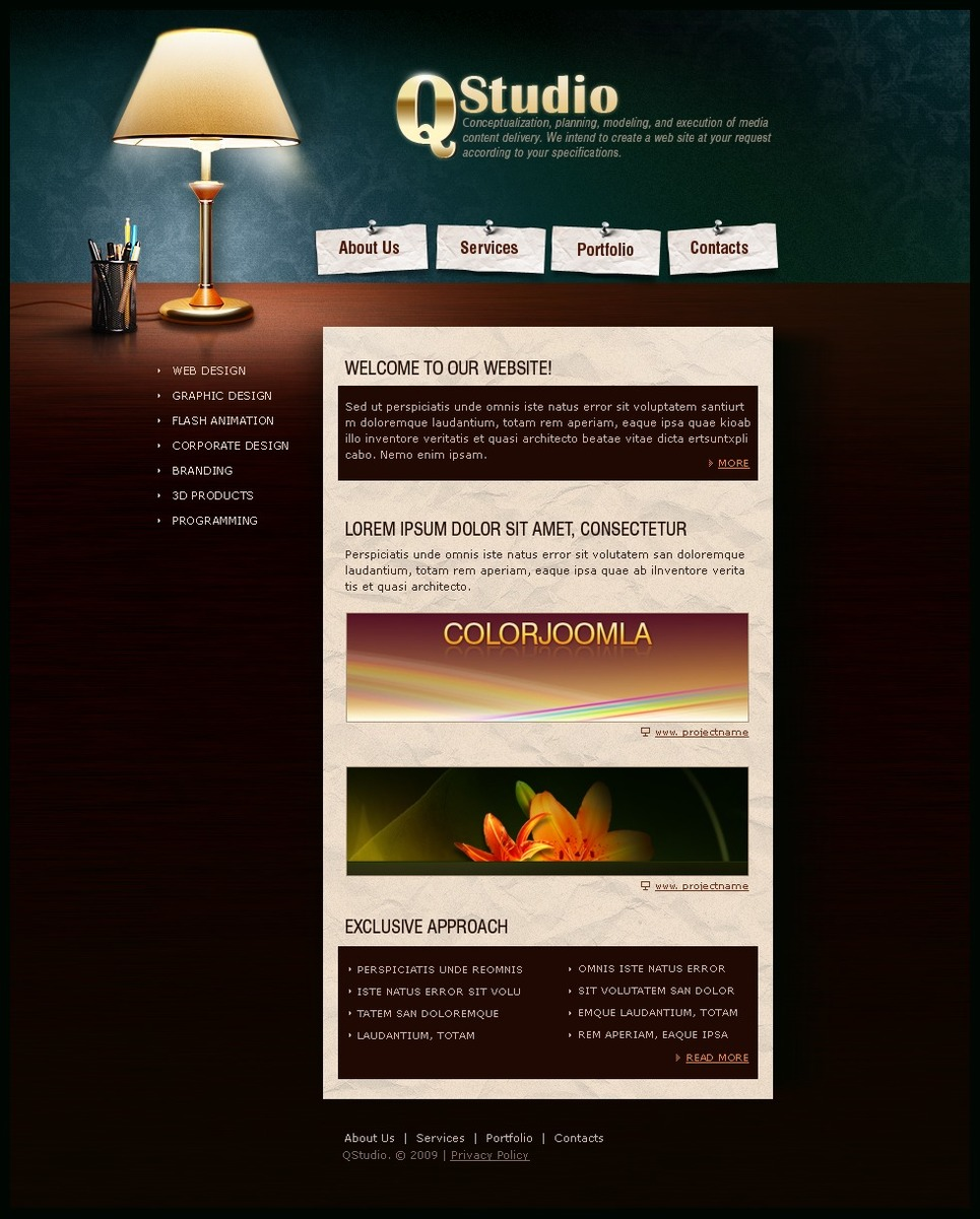 Plantilla Web 23637 Para Sitio De Estudio De Dise O