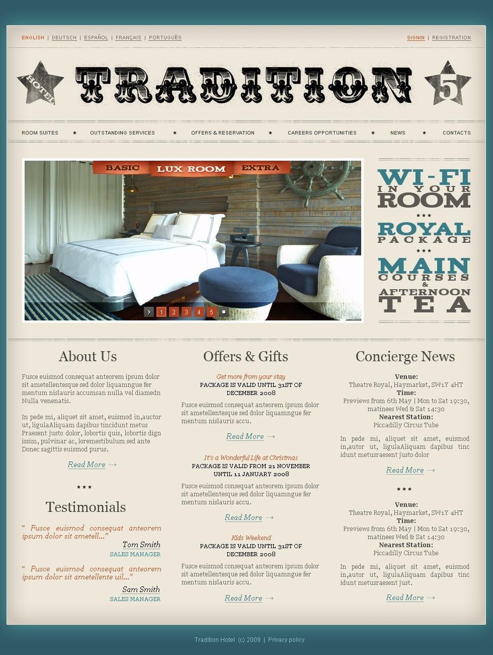 Mod le web 23669 pour site d 39 h tel for Site web pour hotel