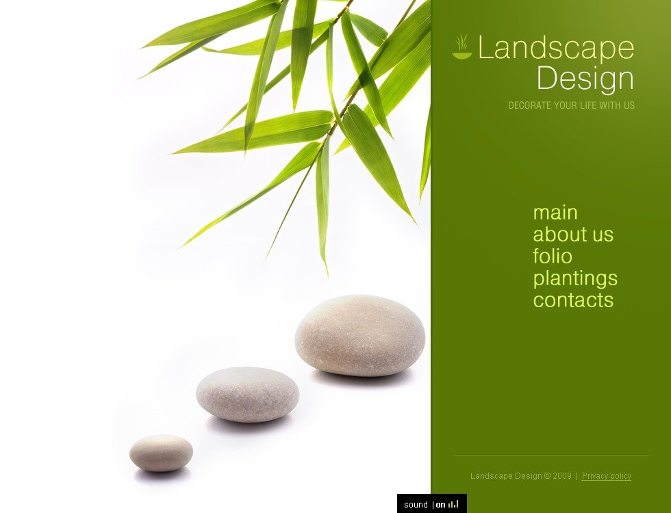 landscape design flash template 23657