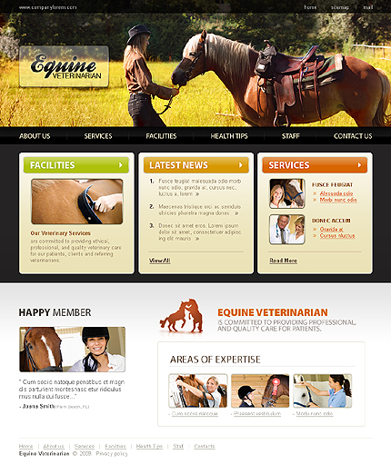 Creare site veterinar