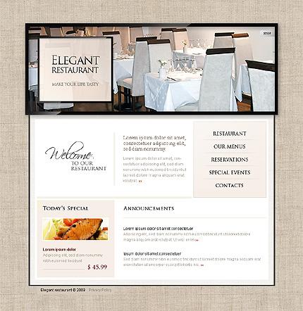 Pagini web restaurant