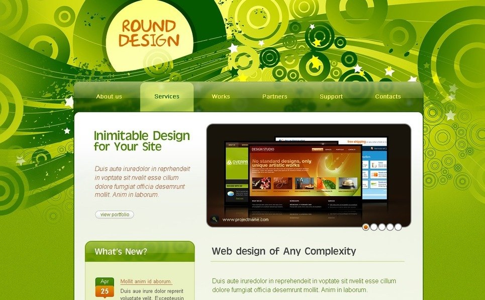 Szablon PSD #23857 na temat: web design New Screenshots BIG