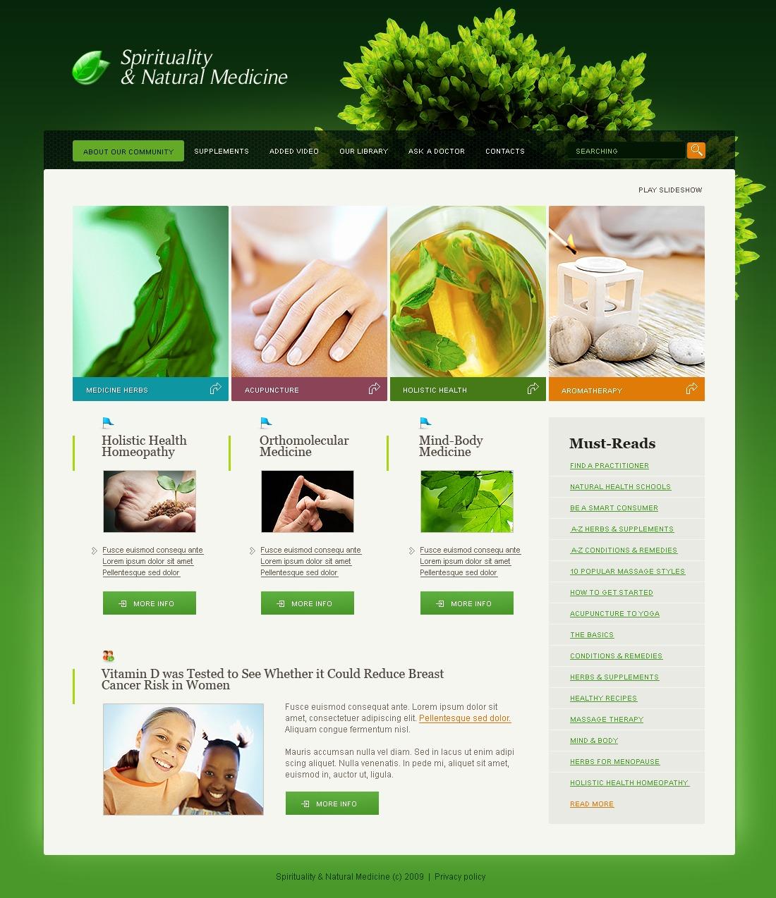 Herbal Website Template #23990