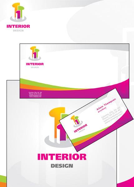 Interior Design Corporate Identity Template Vector Corporate Identity preview