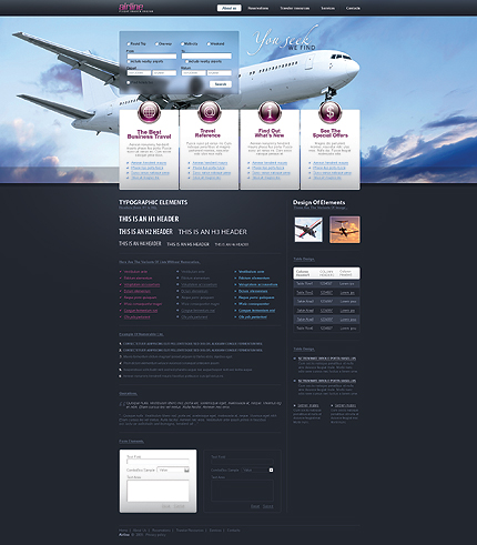 ADOBE Photoshop Template 24093 Home Page Screenshot