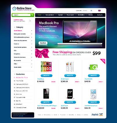 ZenCart Template 24097 Main Page Screenshot