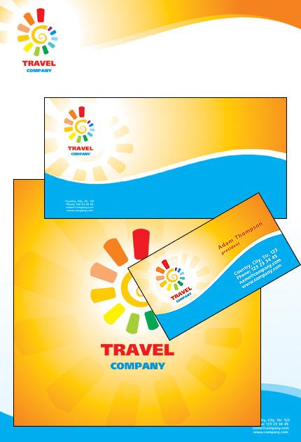 Template De Identidade Corporativa Para Sites De Agencia De Viagens