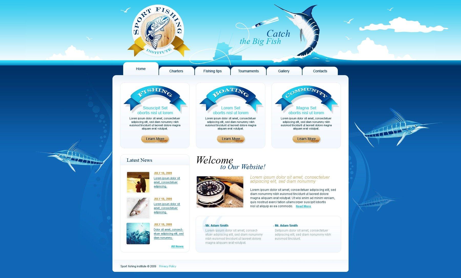 шаблоны сайтов рыболов