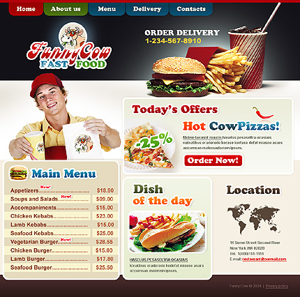Creare site fast food