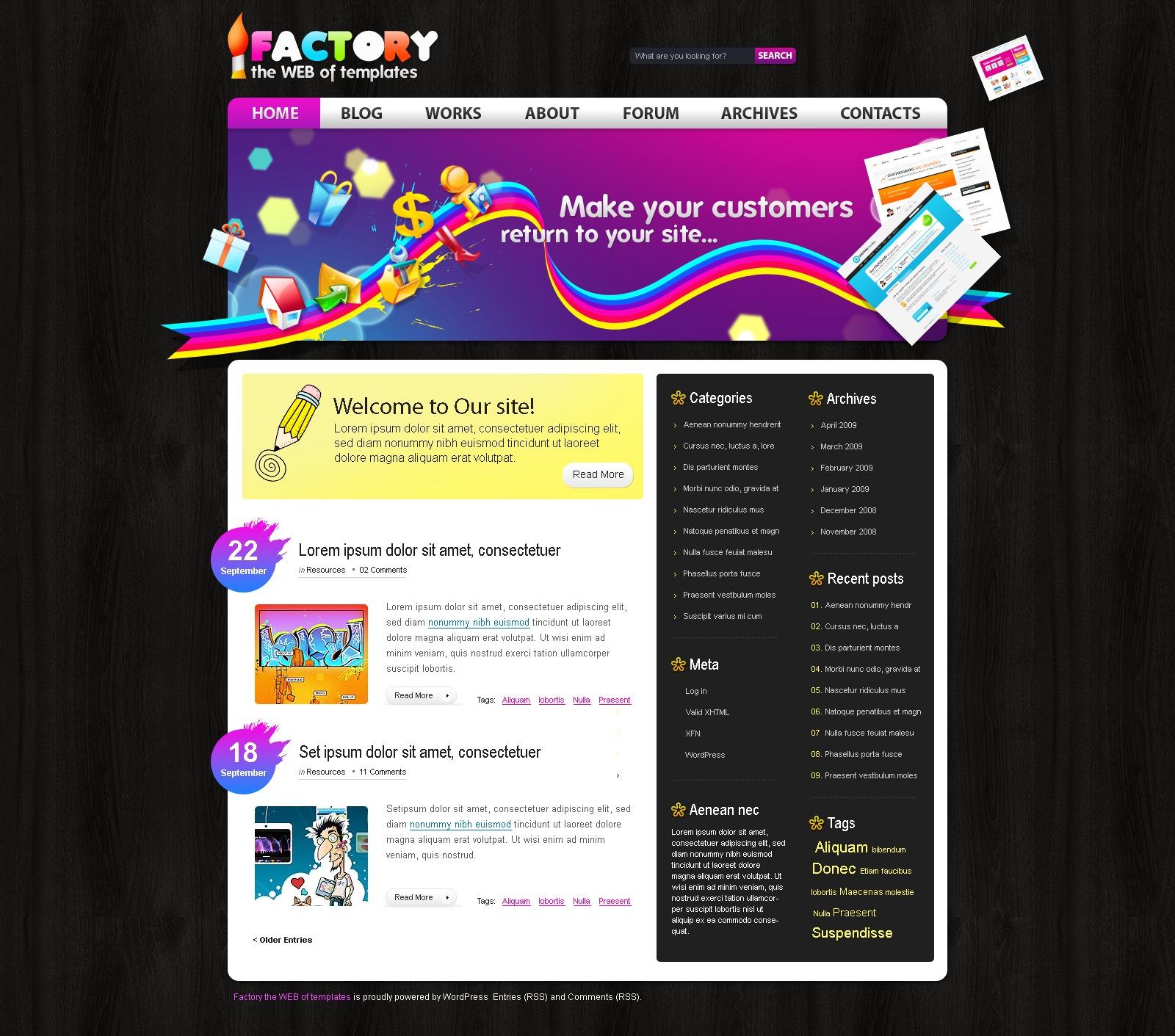 Tema wordpress 24255 per un sito di design studio for Design sito
