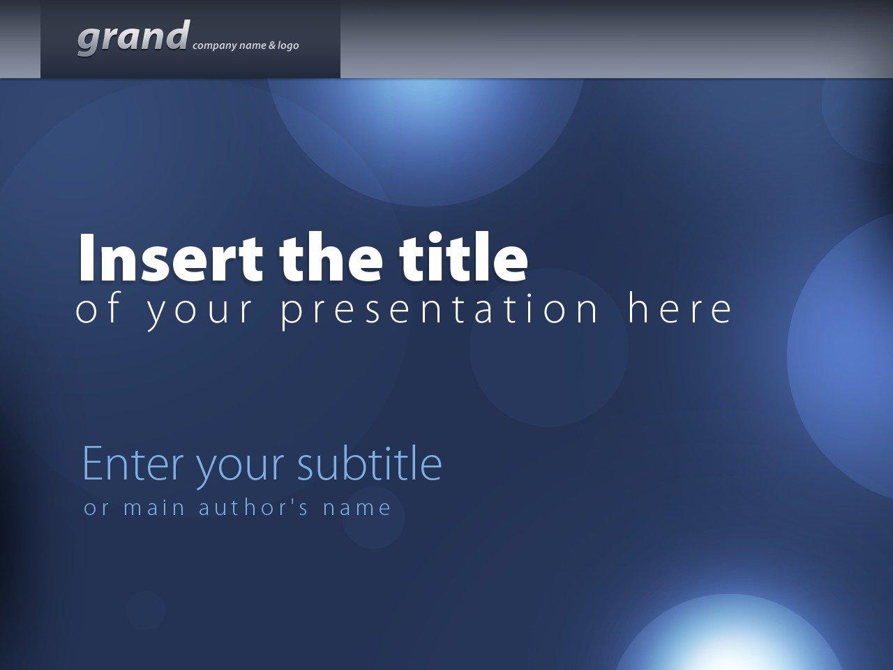 Template PowerPoint #24220 per Un Sito di Scuola di Business