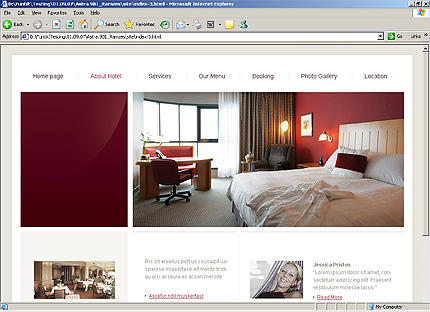 Template 24304 ( About hotel Page ) HTML Screenshot