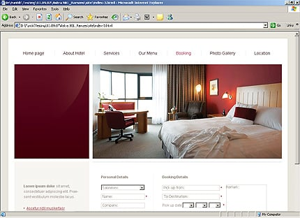Template 24304 ( Booking Page ) HTML Screenshot