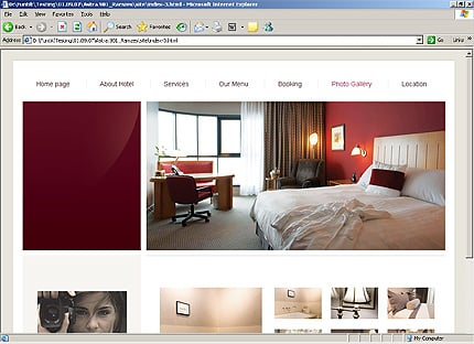 Template 24304 ( Photo gallery Page ) HTML Screenshot