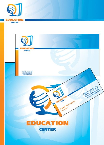 Education Corporate Identity Template Vector Corporate Identity preview