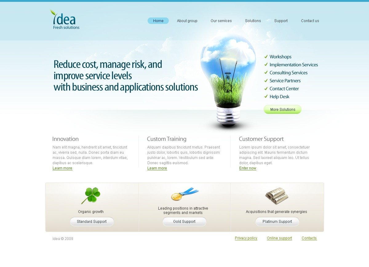 Consulting website template 24413 for Consulting website