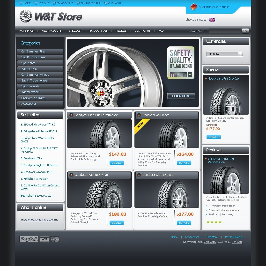 ZenCart Vorlage #24490 für Räder & Reifen