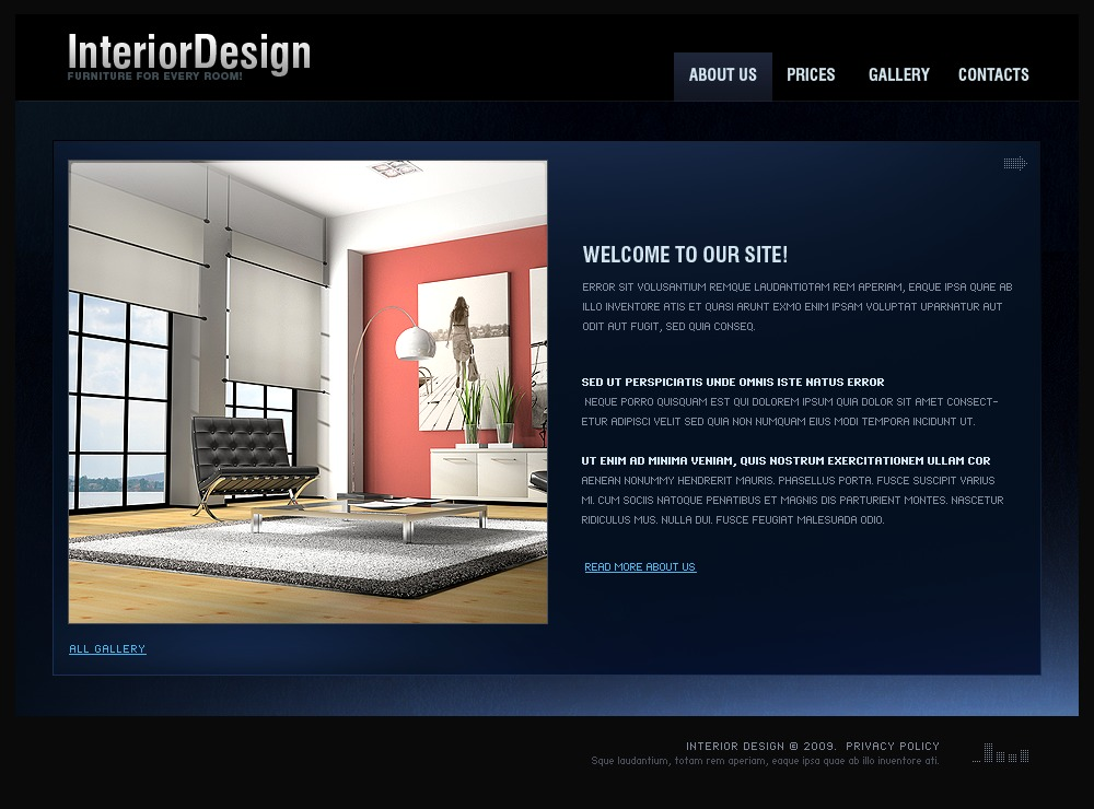 25 Beautiful Free Interior Design Website Html Templates