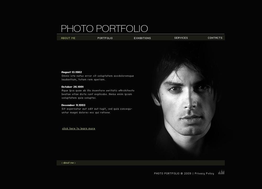 photographer portfolio swish template  24578
