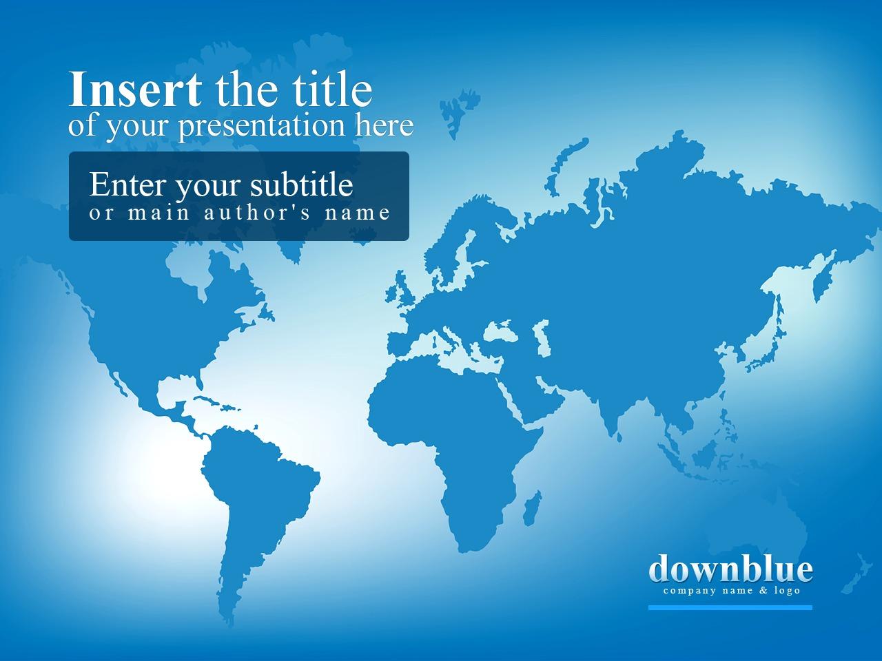 Template PowerPoint #24577 per Un Sito di Business e Servizi