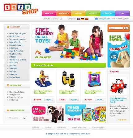 ZenCart Template 24713 Main Page Screenshot