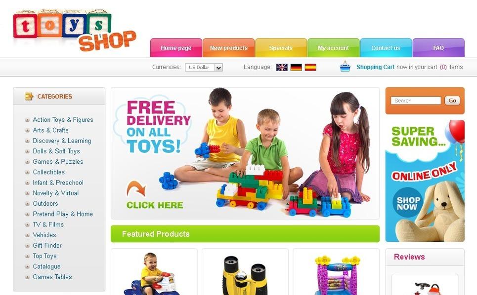 Plantilla ZenCart #24713 para Sitio de Tienda de juguetes New Screenshots BIG