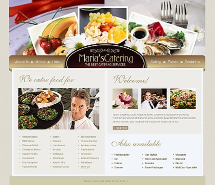 catering website template 24748 by wt website templates