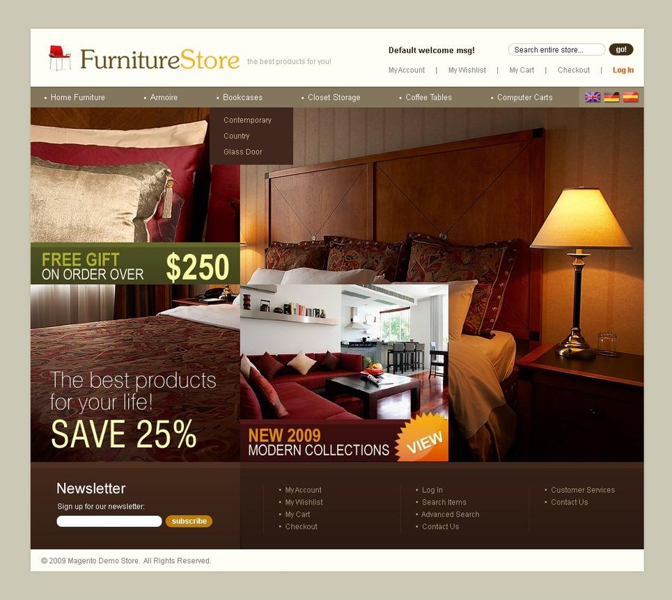 Th me magento 24785 pour site de meubles for Site ameublement