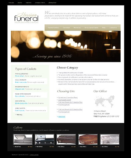 funeral services website template #24810wt - website templates, Powerpoint templates