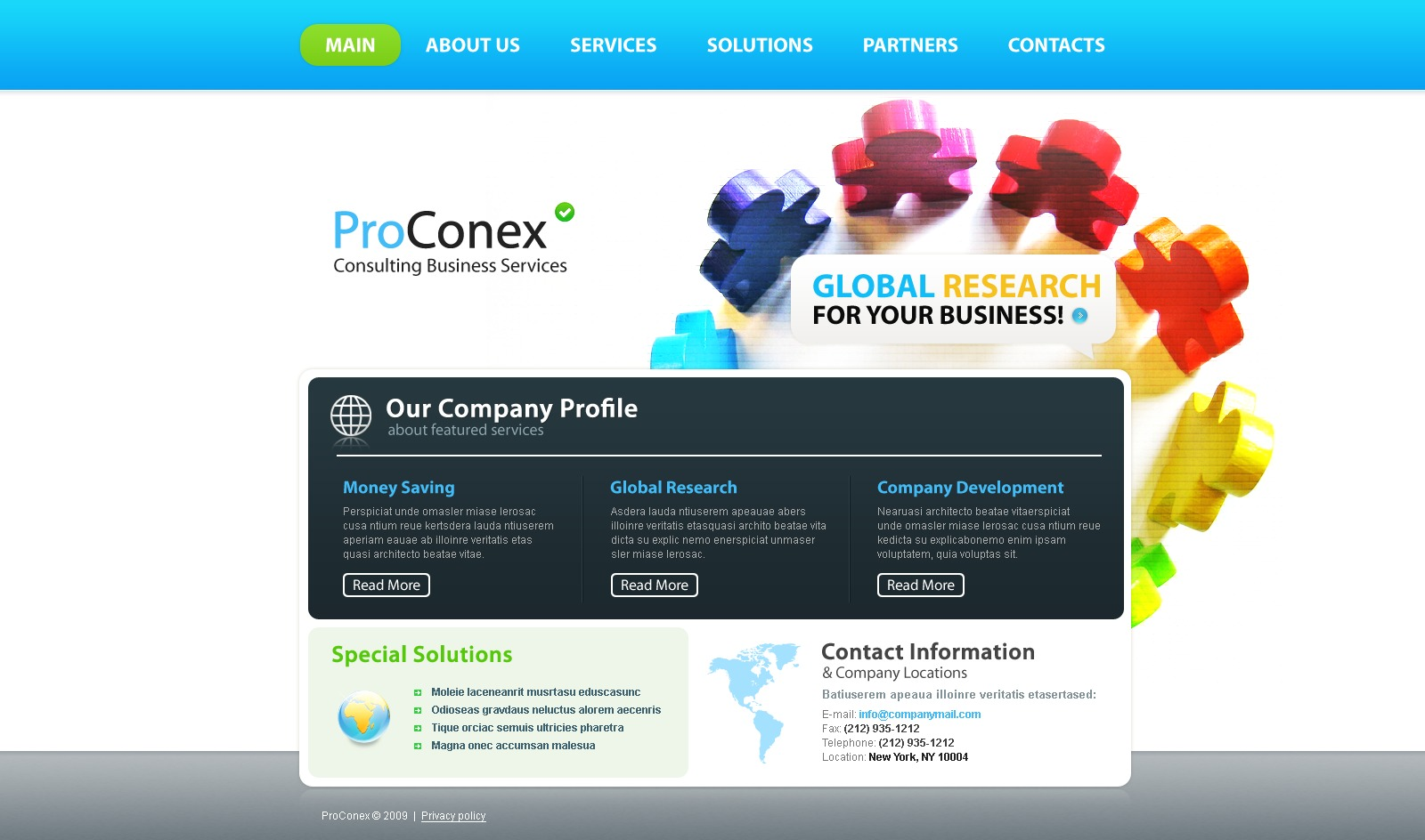 Consulting website template 24807 for Consulting website