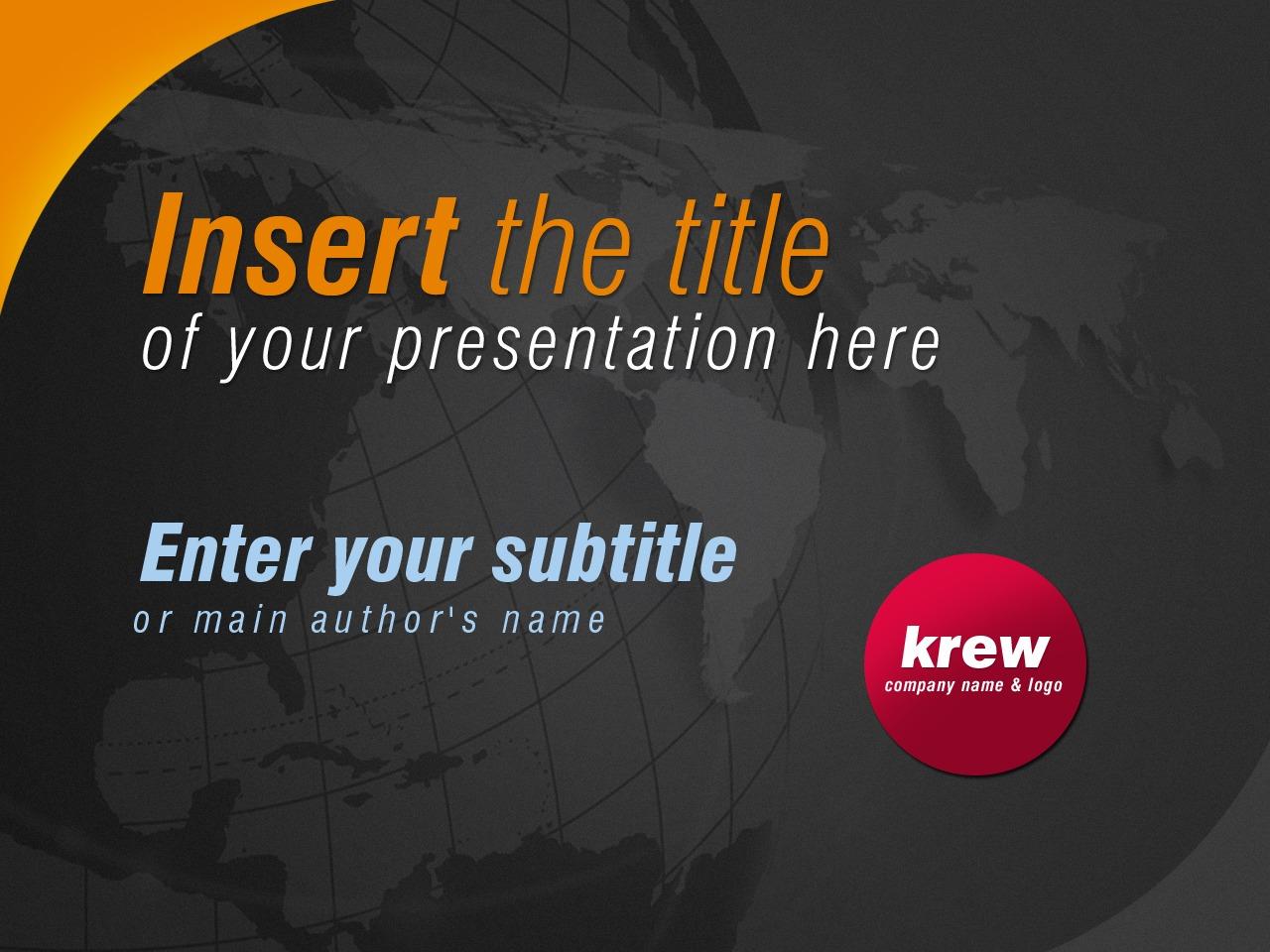 PowerPointmall för handelshögskola #24860