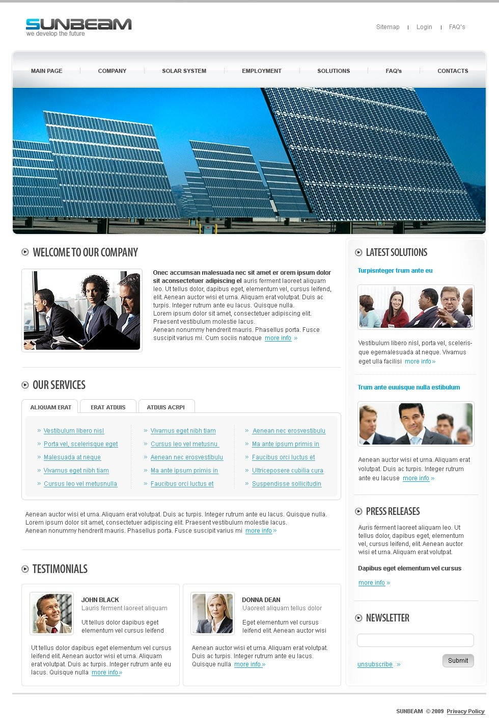 Renewable Energy Website Templates for Green Energy Sites