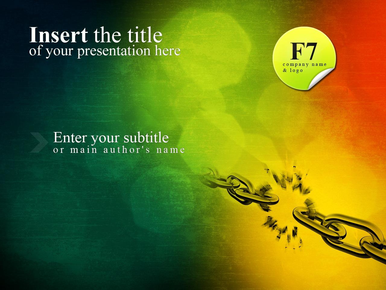 Template PowerPoint #24868 per Un Sito di Business e Servizi