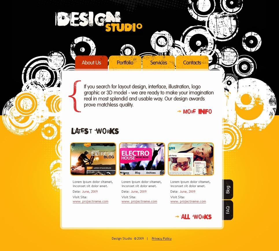 Modello siti web per un sito di design studio for Siti di design
